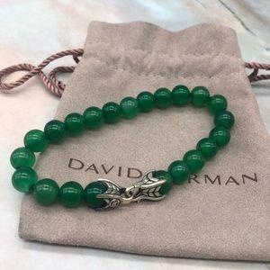 David Yurman green onyx beaded bracelet